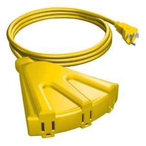 Stanley 33087 Yellow Outdoor Extension Cord, 8 Foot