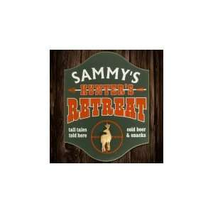Deer Hunters Retreat Personalized Wooden Sign