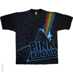 Pink Floyd Dark Sided T Shirt (Black), 2XL Sports