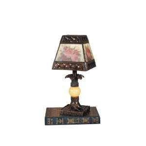 Dale Tiffany TA100711 Hadden Mini Lamp, Antique Golden Sand and Art