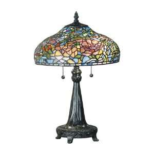 Dale Tiffany Peony 2 Light Table Lamp TT101027