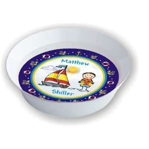 Pen At Hand Stick Figures   Melamine Bowls (Sailing)