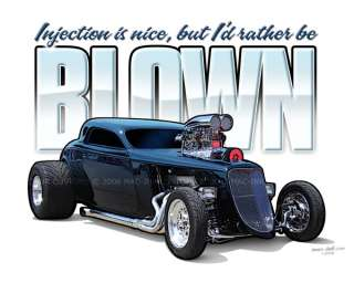 1933 Ford Coupe Hot Rod BLOWN T Shirt 32 33 34