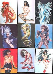 90 CARD SET PLUS PRISMATIC CHASE CARDS P1,2,3,4,5 & 6 BETTY PAGE 1992