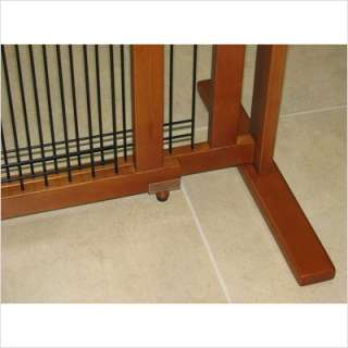 Crown Pet Products Freestanding Wood and Wire Pet Gate