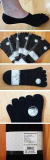 Perfect Hide LOW CUT Five Toe SOCKS for FINGER SHOES No Show