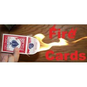 Fire Cards   Bicycle Poker   Card Magic Trick Sports