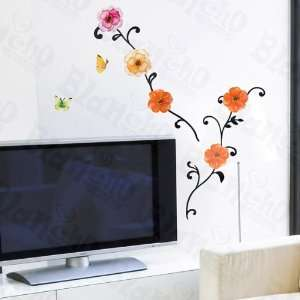 HEMU HL 5608   Brighten Flowers   Large Wall Decals Stickers Appliques