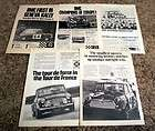 Austin Mini Cooper S Ad Lot / 1965   1969 / 5 Different Ads