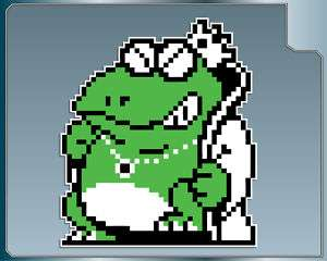 WART from Super Mario Brothers 2 vinyl decal 8 Bit NES