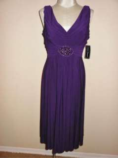 NWT Jessica Howard Beaded Pleated Jersey V Neck Cocktail Dress 6
