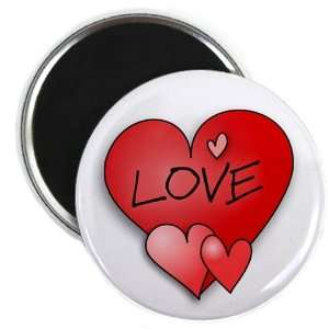RED LOVE HEART Valentines Day 2.25 Fridge Magnet