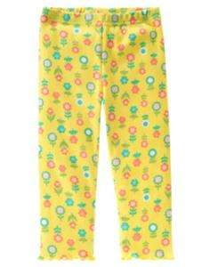 NWT GYMBOREE HAPPY RAINBOW FLOWER RUFFLES LEGGINGS 2T
