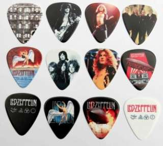 Tin of 12 Led Zeppelin Full Colour Premium Guitar Picks