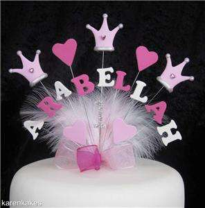 BIRTHDAY CAKE TOPPER 1st 2nd 3rd 4th 5th ANY NAME, AGE, COLOURS