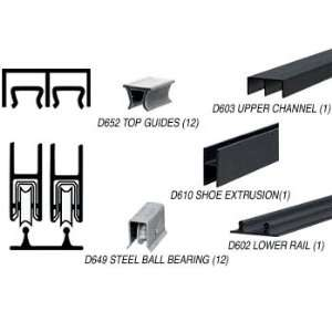 CRL Flat Black Economy Low Profile Showcase Sliding Track