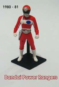 Bandai Power Rangers Miniature Red White Figure 1980