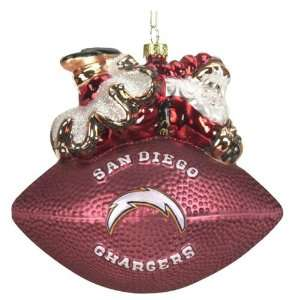 San Diego Chargers Nfl Peggy Abrams Football Ornament (5