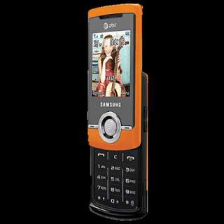 New Samsung SGH A777   Orange (Unlocked) 3G GSM Slider Cellular Phone