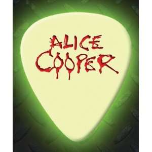 Alice Cooper 5 X Glow In The Dark Premium Guitar Picks