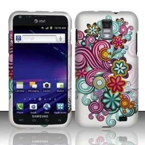 VMG Samsung Skyrocket Design Hard Case Cover   Purple Blue