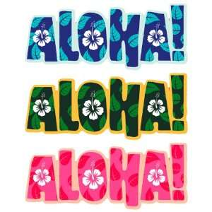 Aloha Type   Hawaiian Art Decal   Car Window Bumper