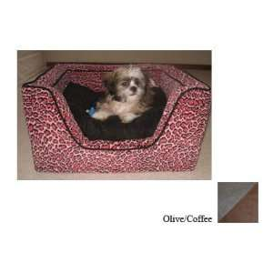 Snoozer Memory Foam Luxury Square Pet Bed, Large, Tan Maze