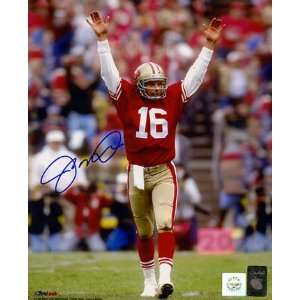 Joe Montana Autographed Super Bowl Rings 8 x 10 Color