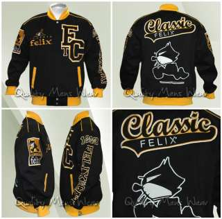 FELIX THE CAT CLASSIC SMALL COTTON TWILL VARSITY JACKET