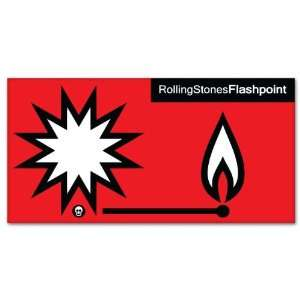 Rolling Stones Flashpoint bumper sticker decal 6 x 3
