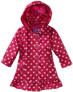 Pink Platinum Baby girls Infant Polka Dot Trench Jacket Clothing