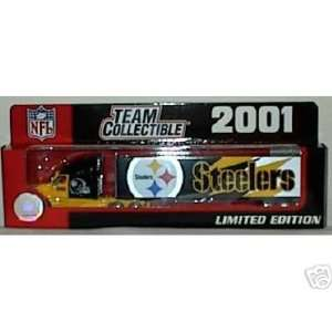 2001 Pittsburgh Steelers 180 Scale Diecast Tractor Trailer Semi NFL