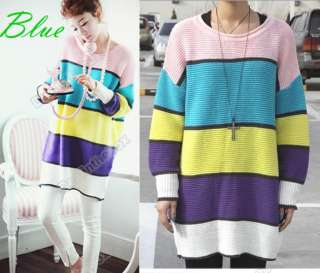 New Women Korea Casual Color Sweater Knitwear Top 2C