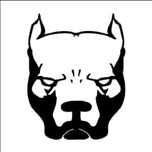 PIT BULL DOG Black 5 Vinyl STICKER/DECAL for Cars,Trucks