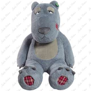 GIANT HUGE FAT 63 GREY TEDDY BEAR STUFFED PLUSH TOY