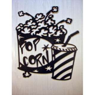 Metal Wall Art Home Theater Decor Popcorn and Soda