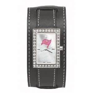 Tampa Bay Buccaneers Ladies NFL Starlette Watch (Wide Leather Band