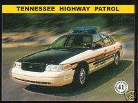 TENNESSEE STATE POLICE HIGHWAY PATROL TROOPERS Car Card