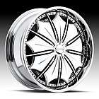 24 DUB SPIN Presidential Wheel SET 24x10 Chrome Spinner Rims RWD 5