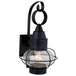 13.5 H Nautical Textured Black Outdoor Wall Light