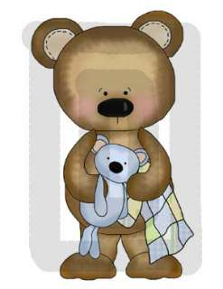 BEDTIME BEAR BABY GIRL BOY NURSERY WALL STICKERS DECALS