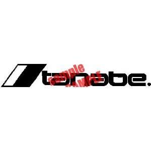 TANABE LOGO WHITE DECAL STICKER VINYL
