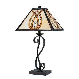 Granville Table Lamp, Dark Bronze with Tiffany Shade