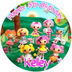 LALALOOPSY Round Edible CAKE Image Icing Topper Birthday Party