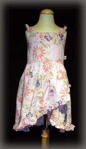 Cakewalk Euro Boutique Girls Pink Floral Sundress Dress Size 104 US 4