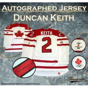 Duncan Keith Autographed/Hand Signed Jersey Canada Replica White