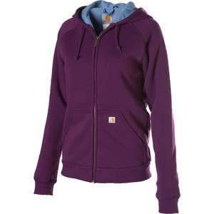 Womens Carhartt Thermal Lined Zip front Hooded Sweatshirt  Grapeseed