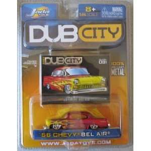 Dub City 2004 56 Chevy Bel Air Red Flames Toys & Games