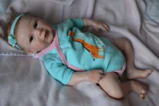Soft Solid Silicone baby girl doll Lexi Lu by Michelle Fagan Limited