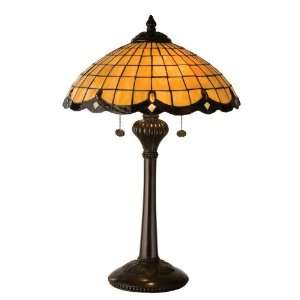 Meyda Tiffany Victorian Art Glass Nouveau Table Lamp